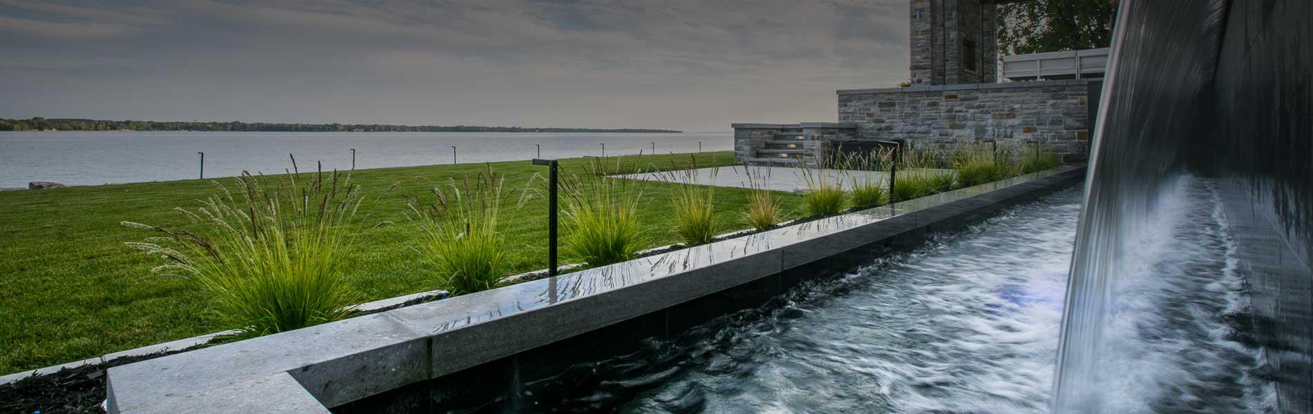 Chute bassin paysagement PDA design